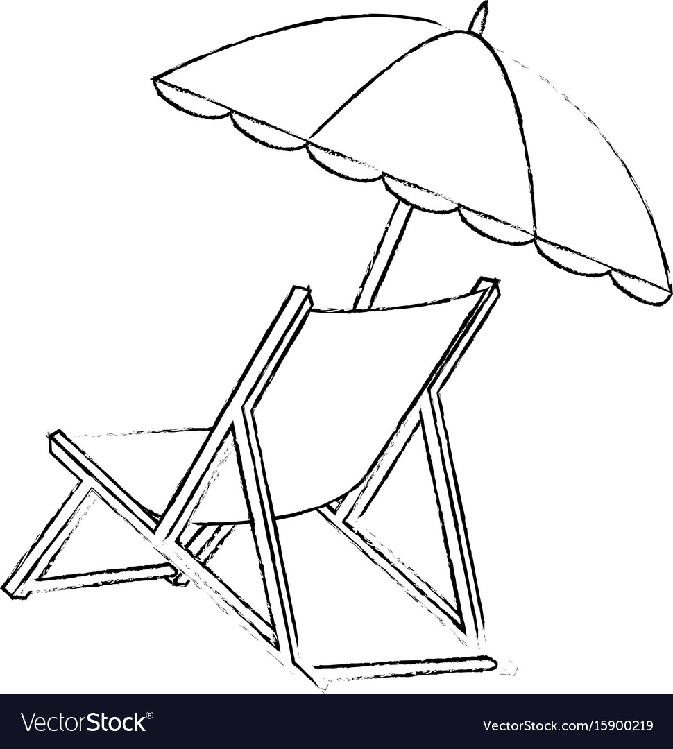 Isolated Beach Chair Royalty Free Vector Image