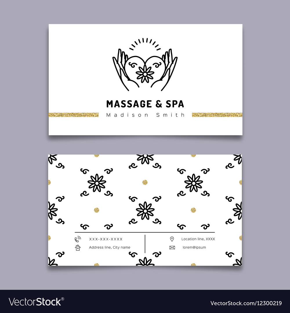 Massage and spa therapy business card template vector image fbccfo Images