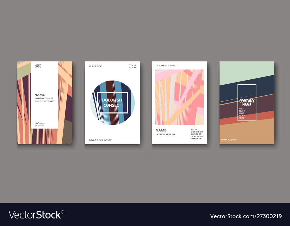 Modern cover collection design abstract retro 90s