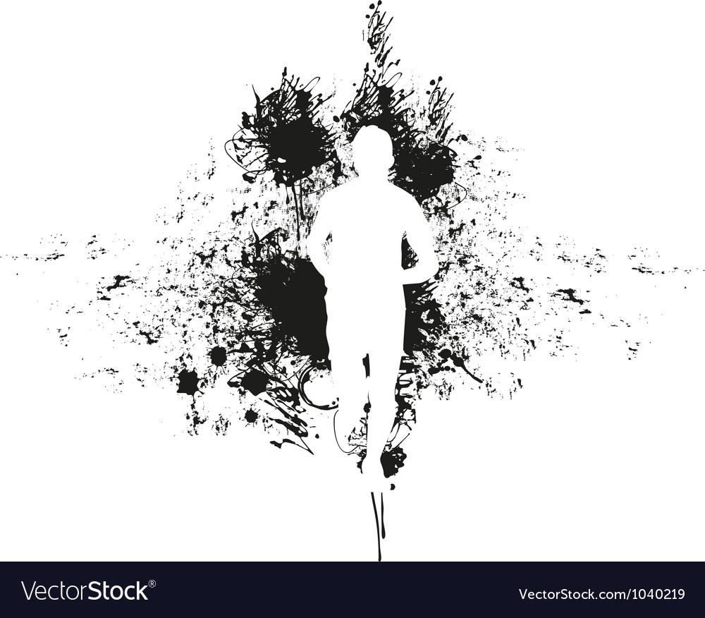 Runner background vector image