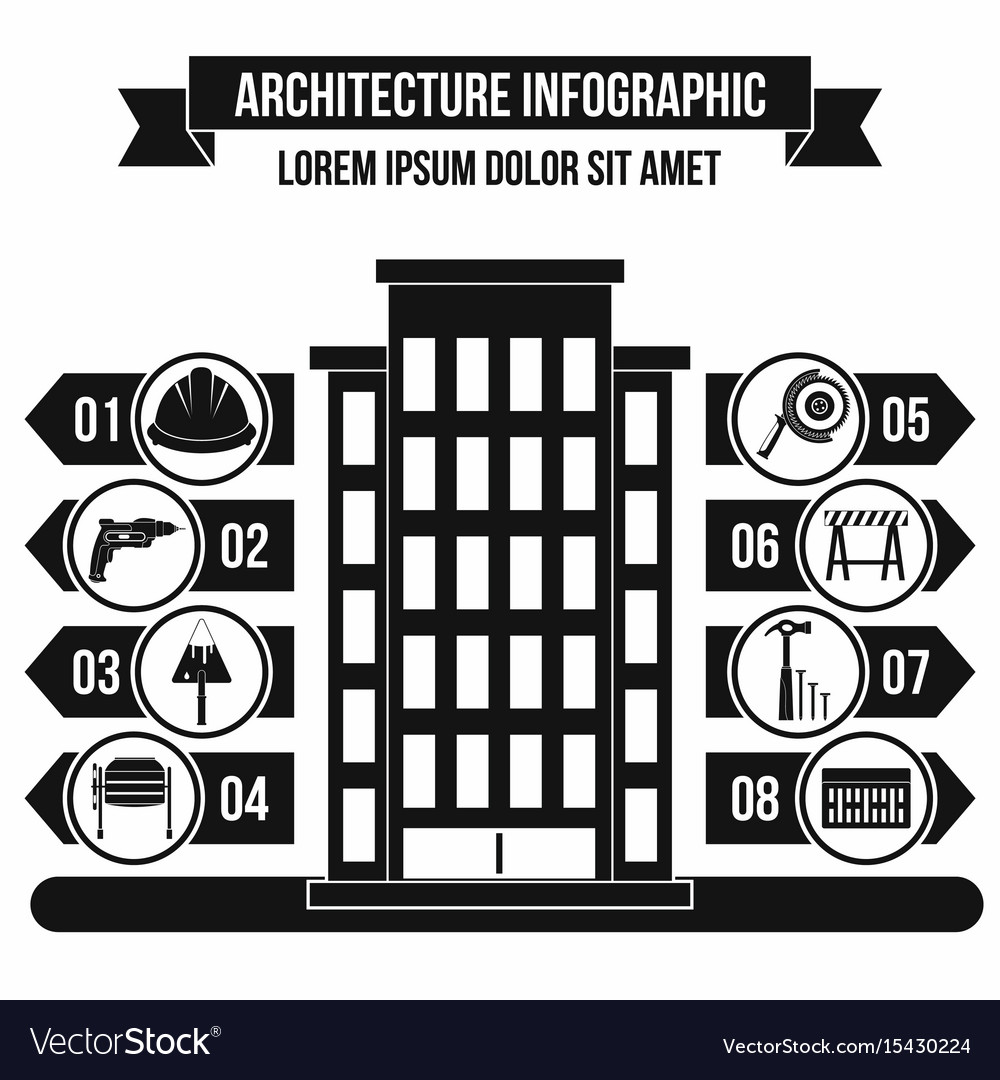 Architecture infographic concept simple style
