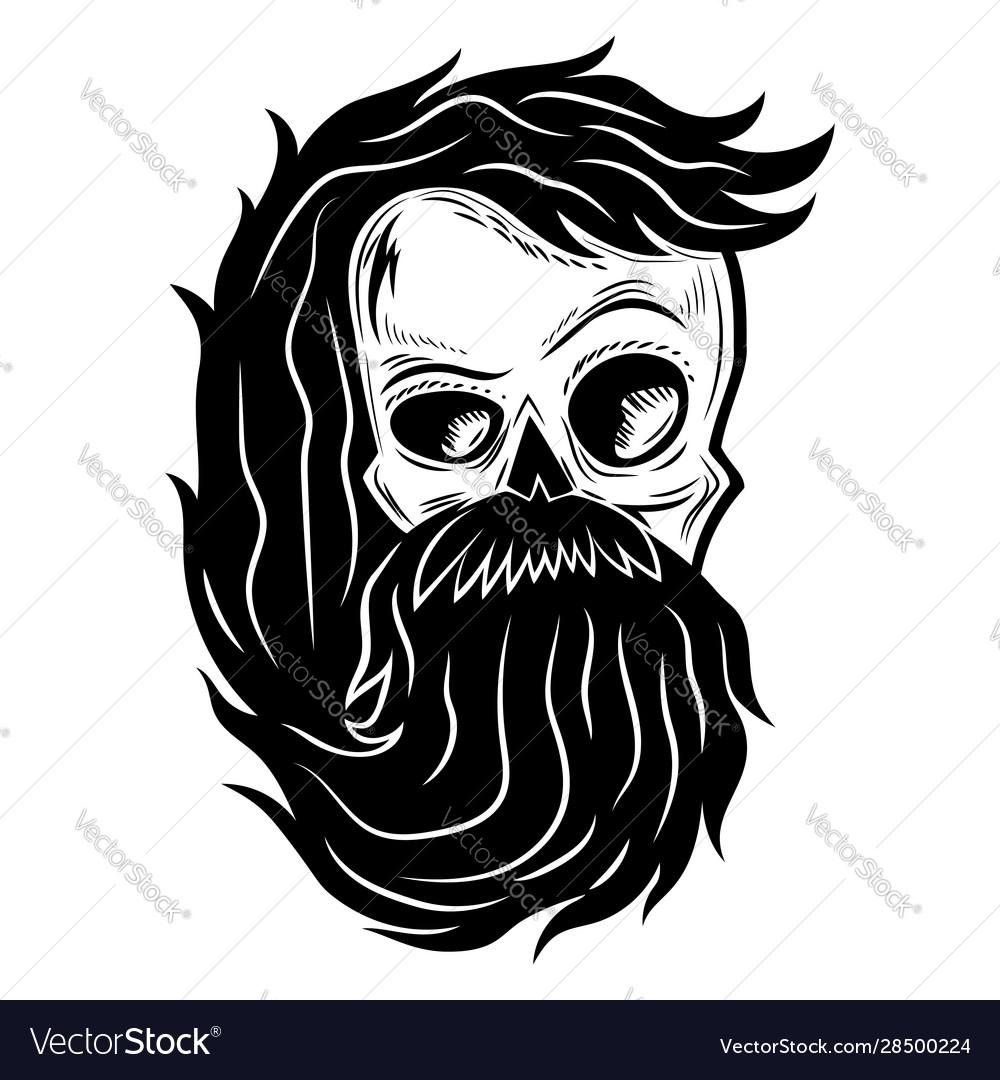Black skull sign