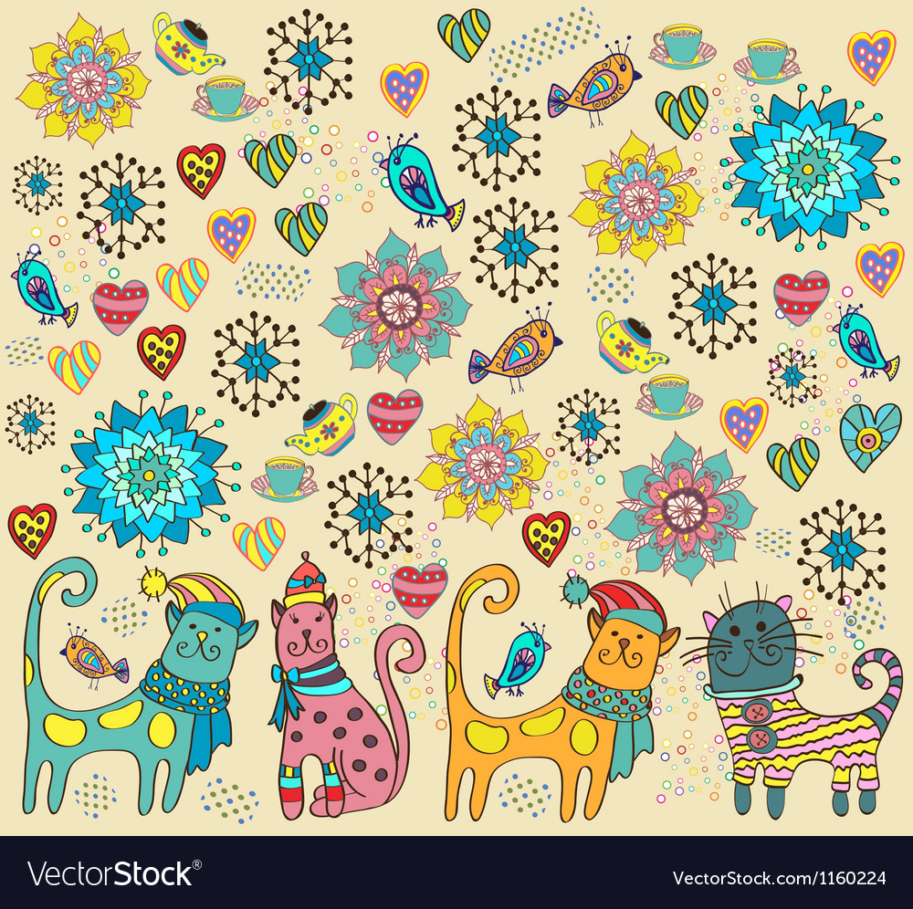 Bright cat background