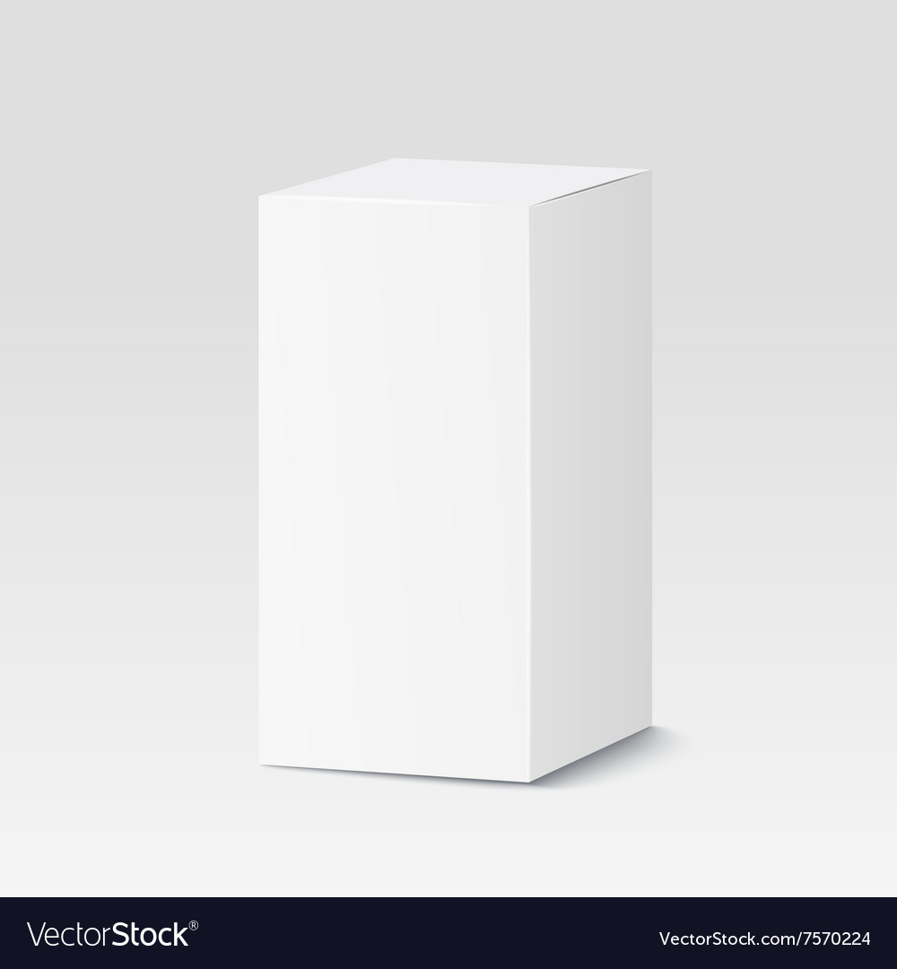 Cardboard box on white background White container vector image