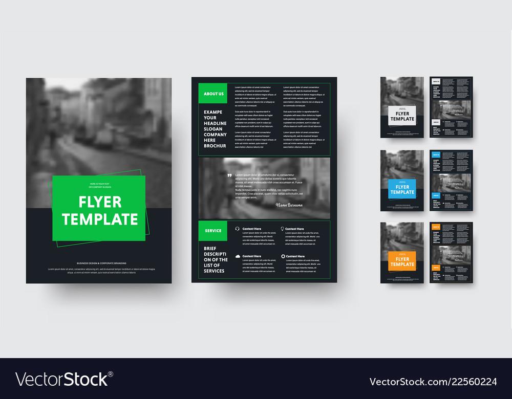 Design black flyer design with rectangular