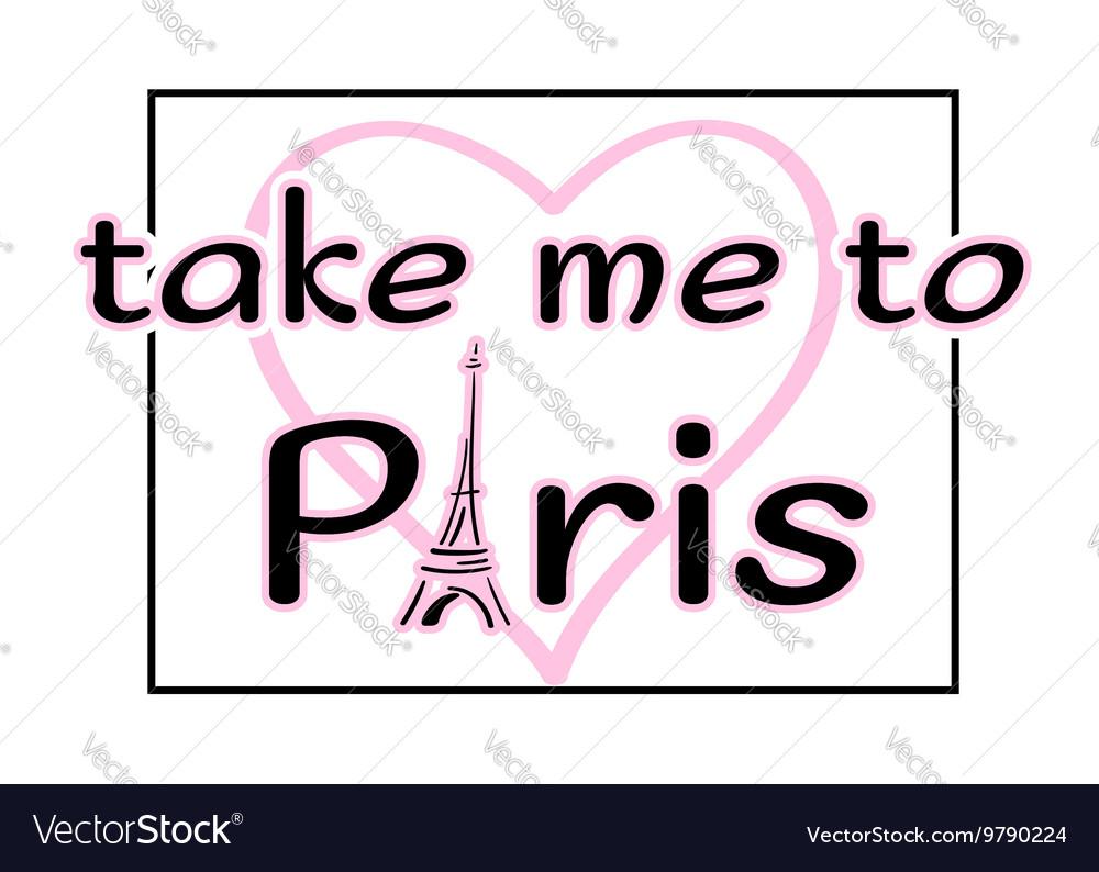 Eiffel Tower heart drawn