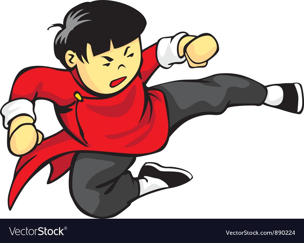 Flying Kick vector image