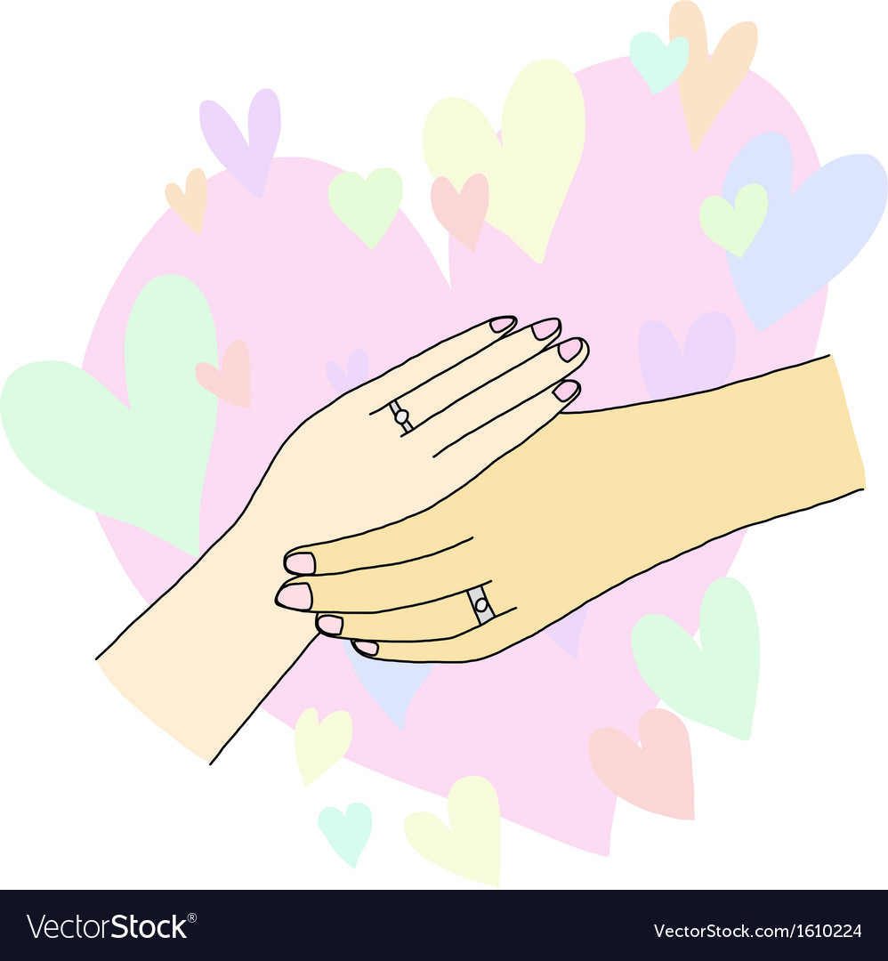 Holding hands of lover vector image