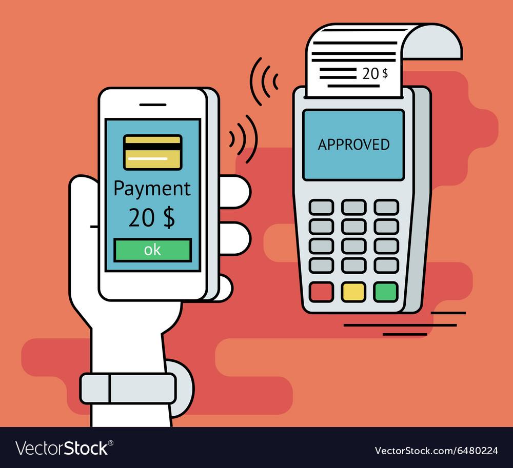 Mobile payment via smartphone