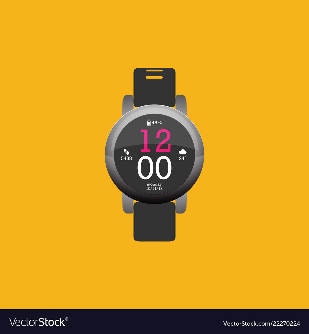 Smartwatch wearable technology flat icon eps10