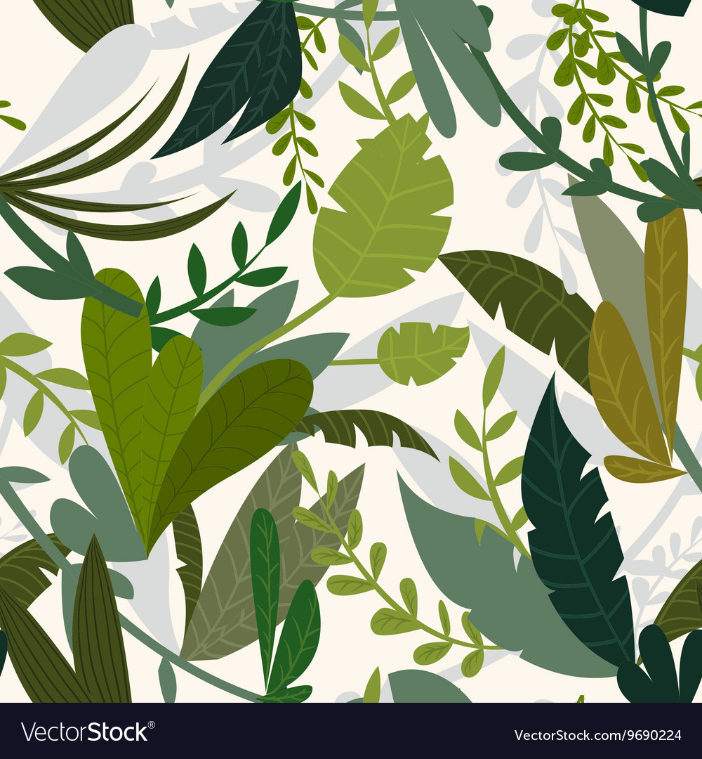 Summer tropical jungle background with palm trees vector image