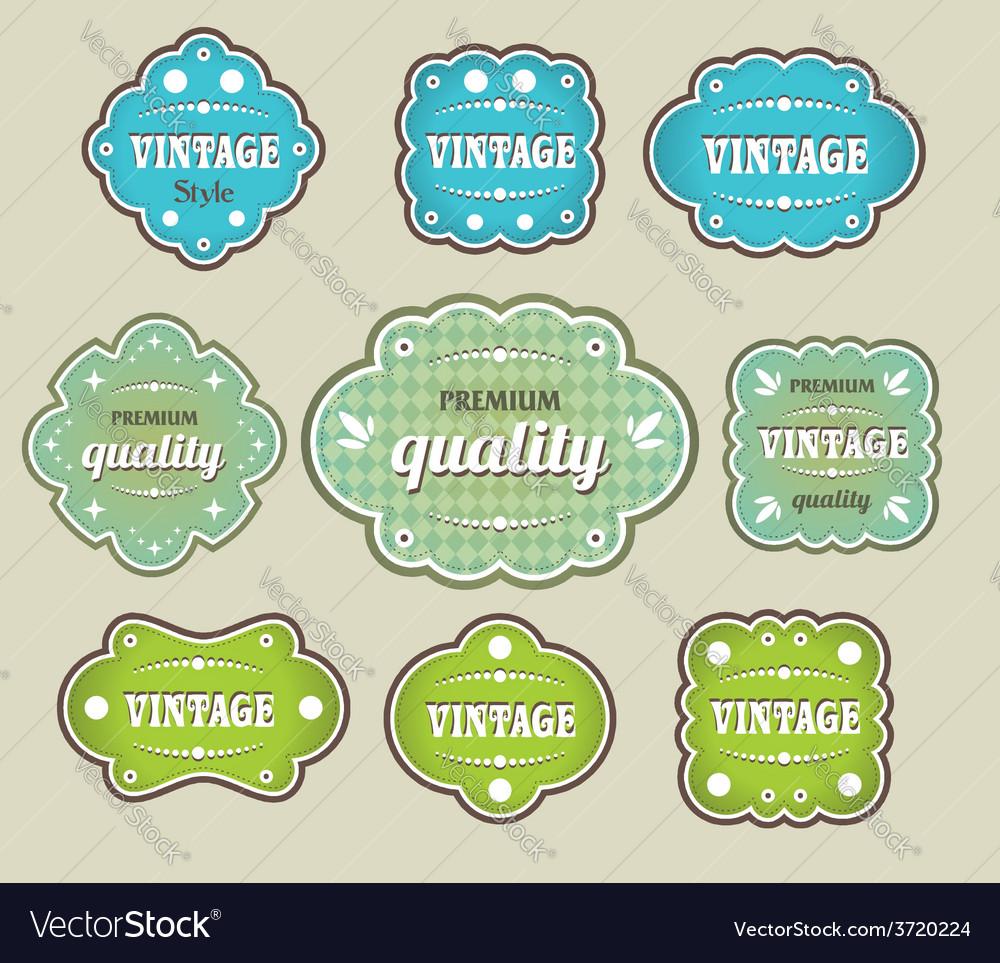Vintage labels retro style set