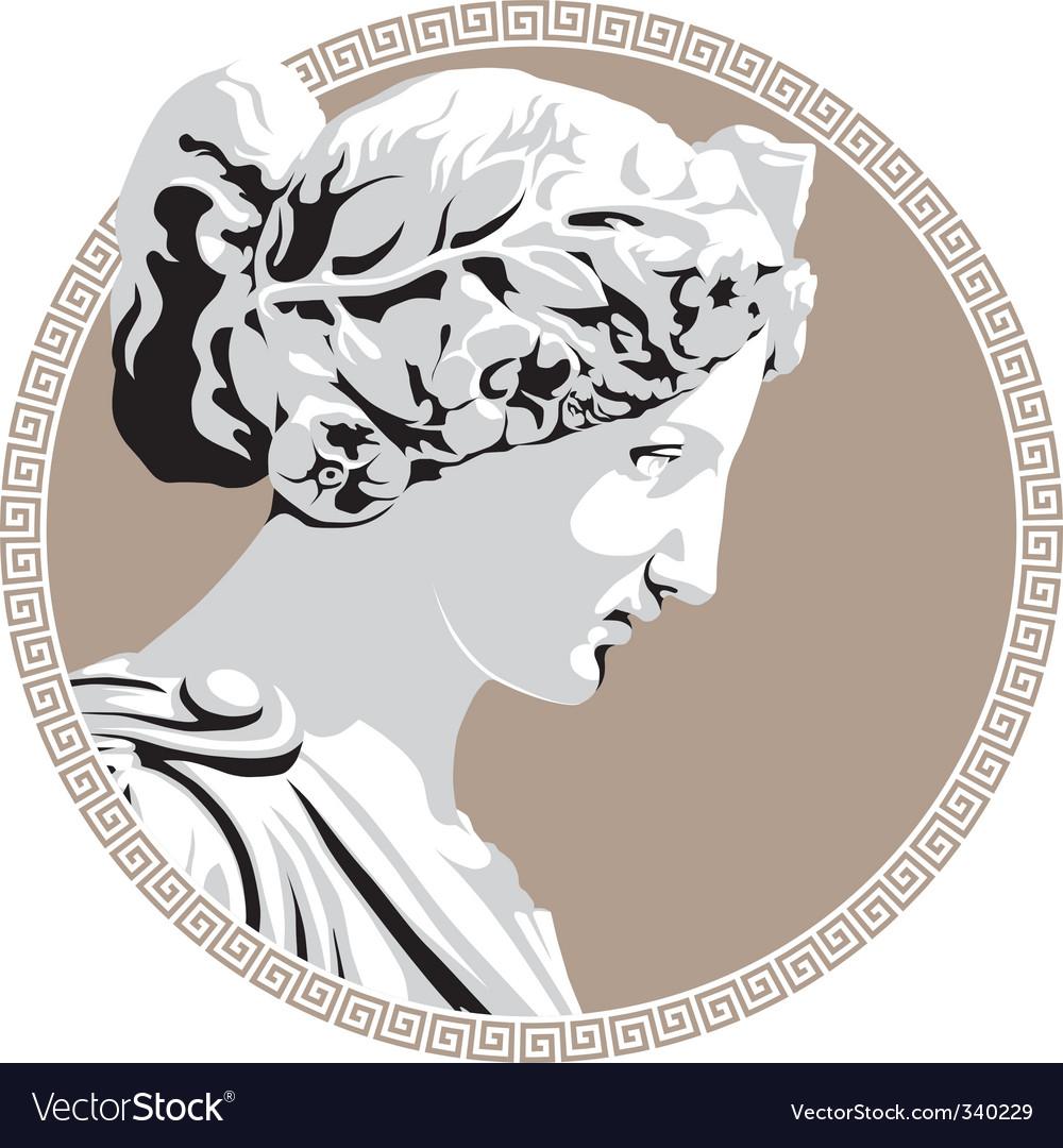 Ancient goddess vector image