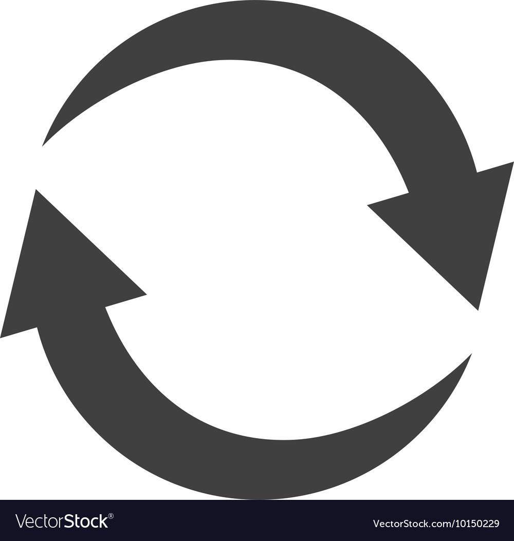arrow direction circle silhouette icon royalty free vector vectorstock