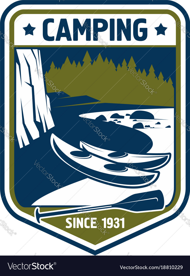 Badge icon for camping sport adventure