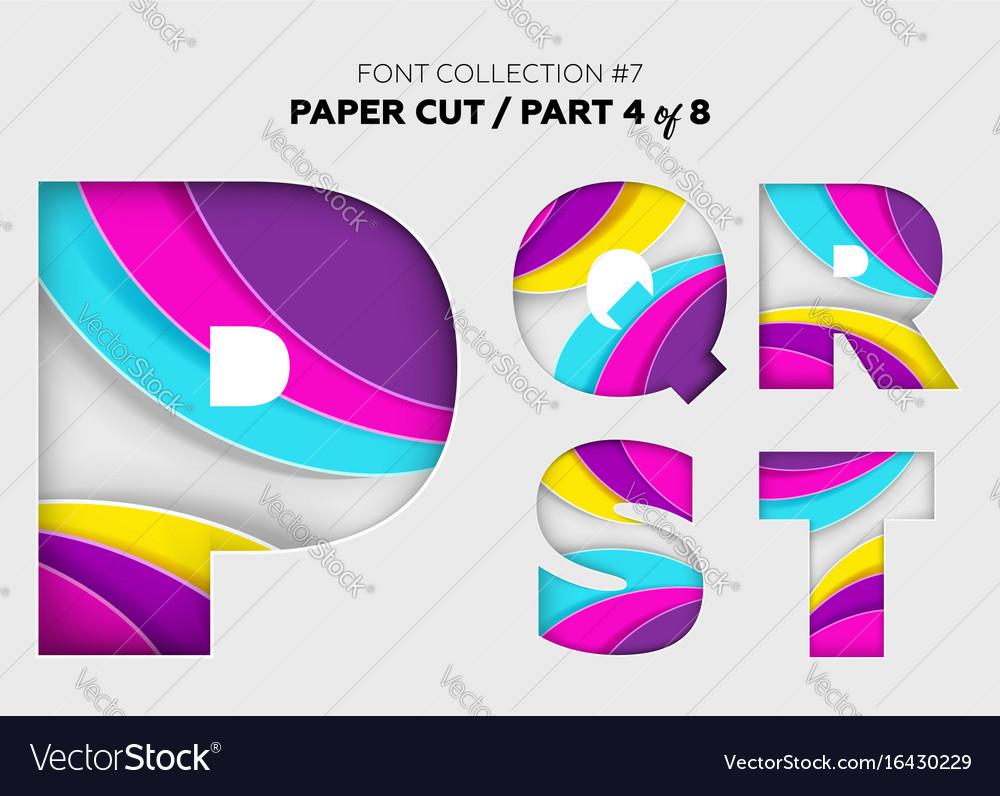 Carved paper art font design beautiful 3d