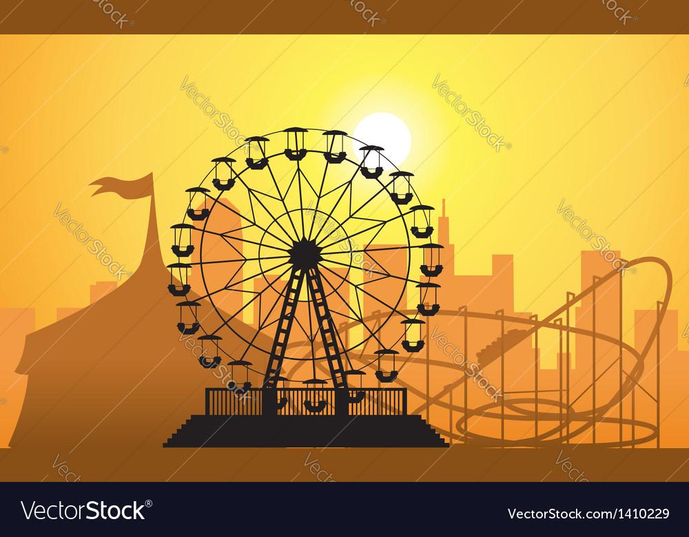 City and amusement park