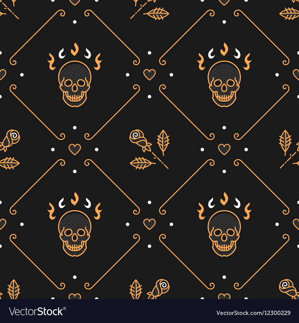 Floral pattern seamless rhombus backdrop Art