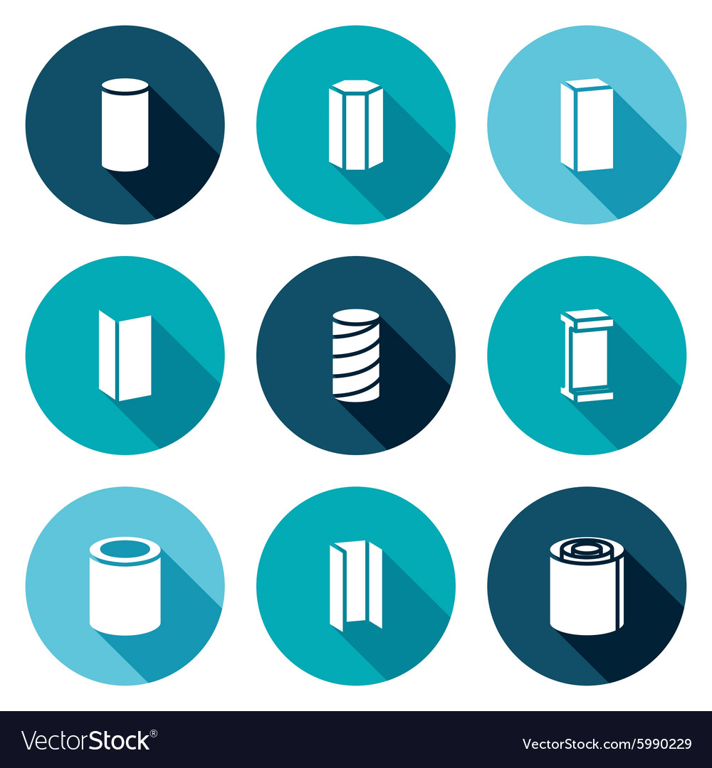 Metallurgical products Icons Set