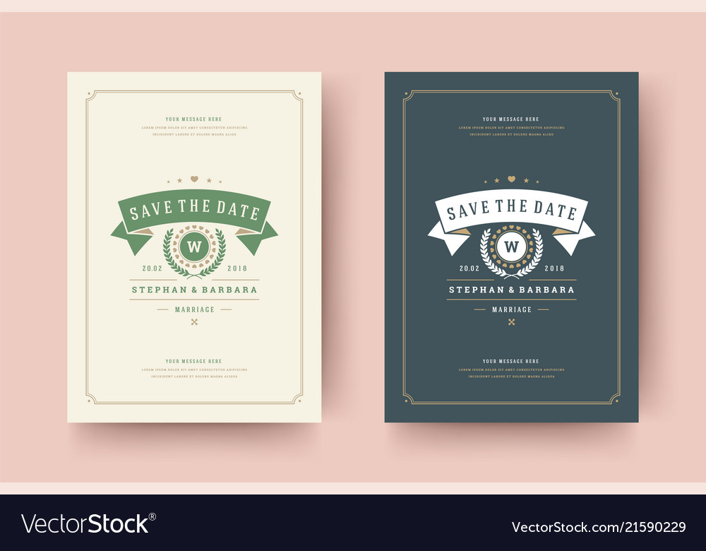 Wedding invitations save the date cards design