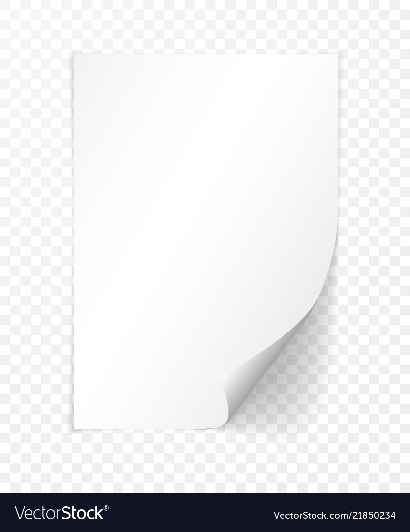 A4 Paper With Shadow Design Template Royalty Free Vector