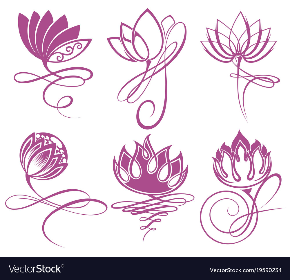 Beauty lotus flowers design logo template vector image izmirmasajfo