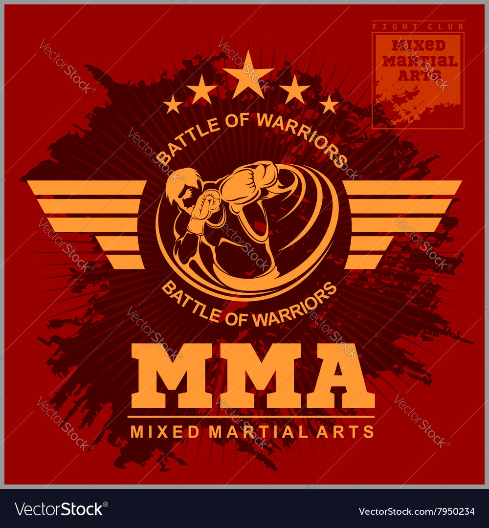 Boxing and martial arts logo badge or label in