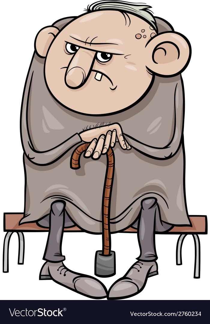 grumpy old man cartoon royalty free vector image rh vectorstock com grumpy cartoon character grumpy cartoon characters