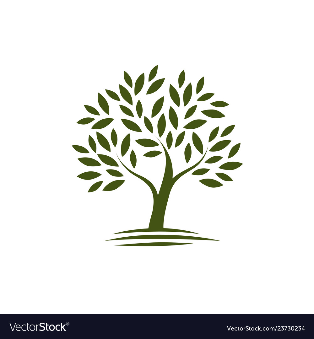 Logo tree ecology nature icon or symbol