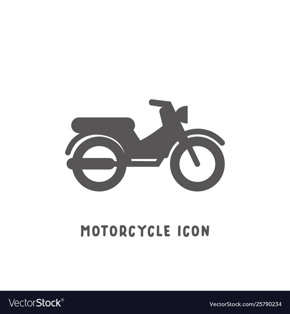 Motorcycle icon simple flat style
