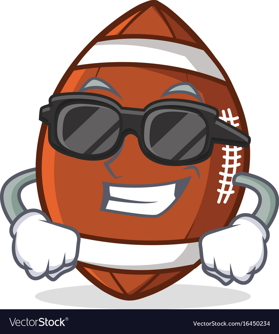 Super cool american football character cartoon