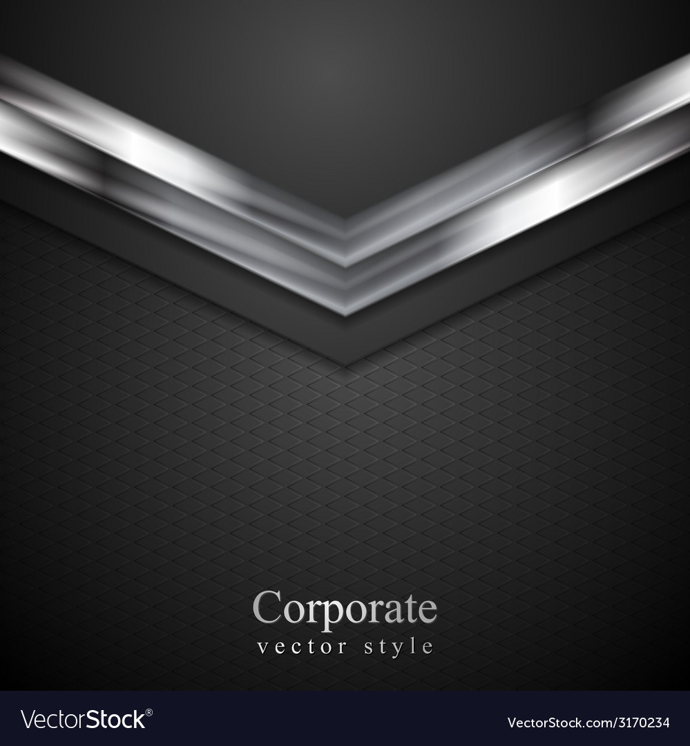 Technology corporate background with metal arrows