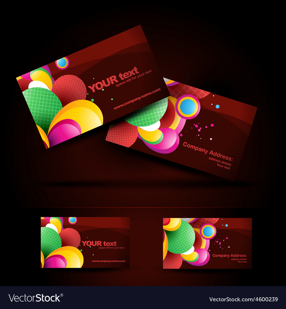 Artistic business card royalty free vector image artistic business card vector image colourmoves