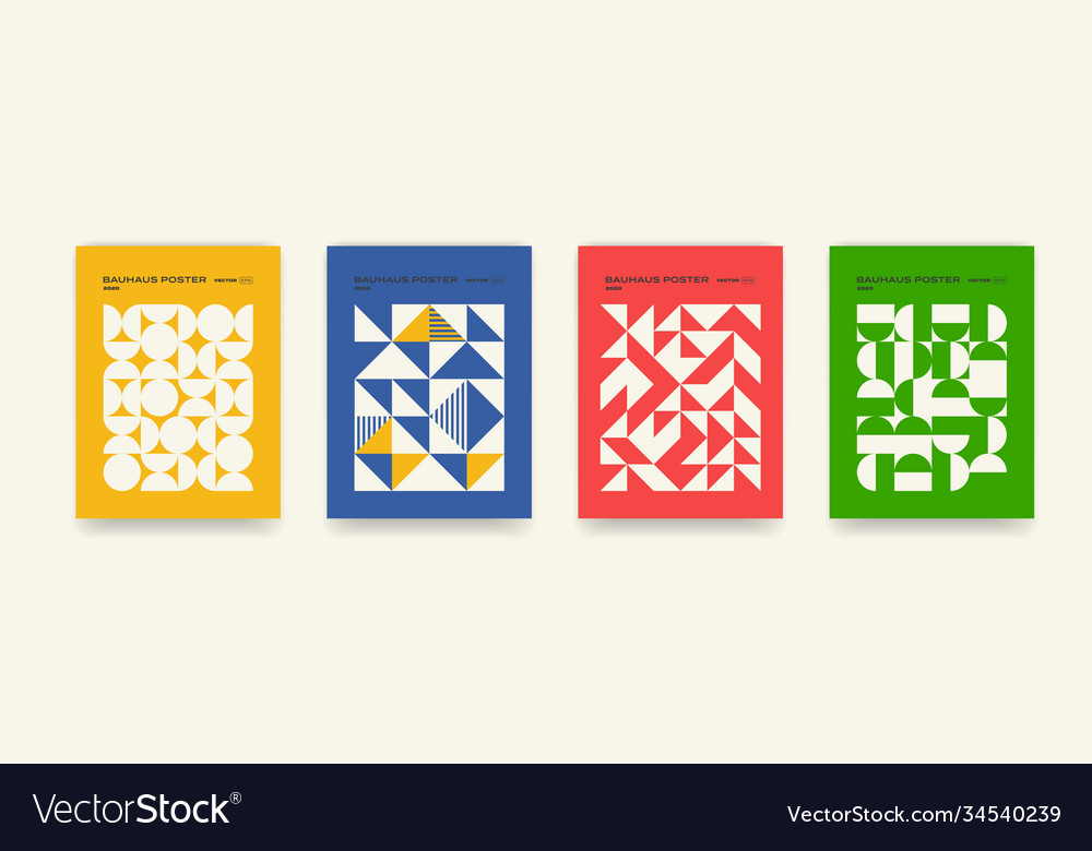Bauhaus geometric pattern background abstract