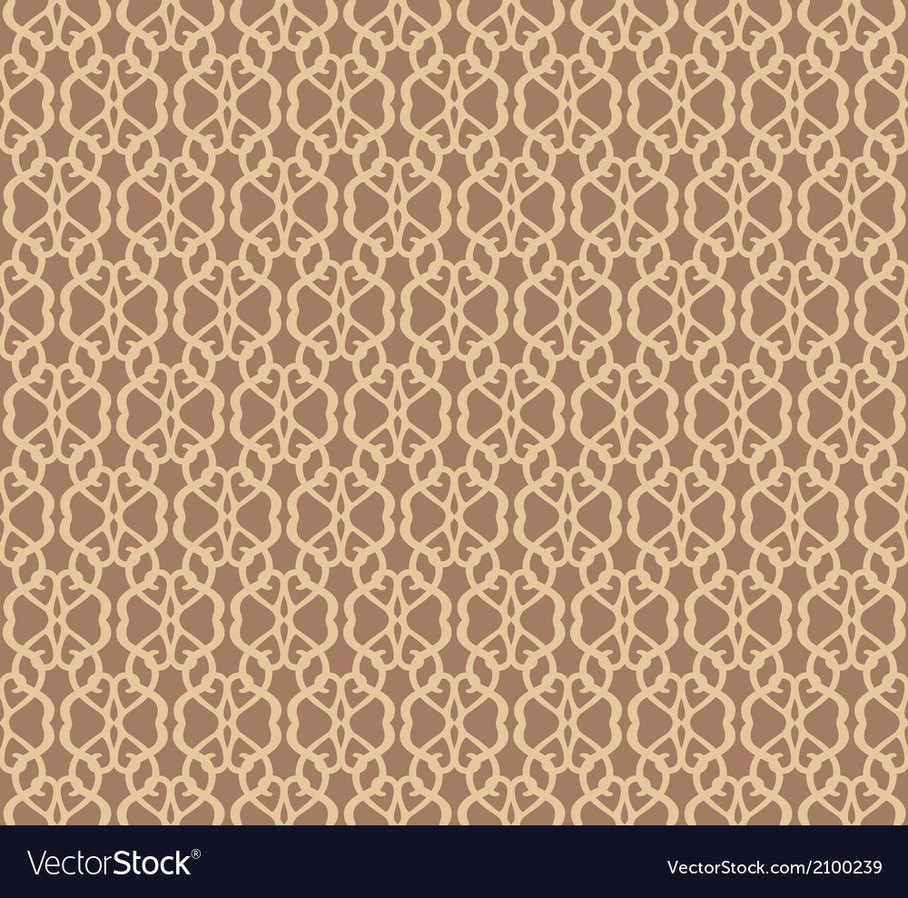 Beige Forged Seamless Pattern on brown background