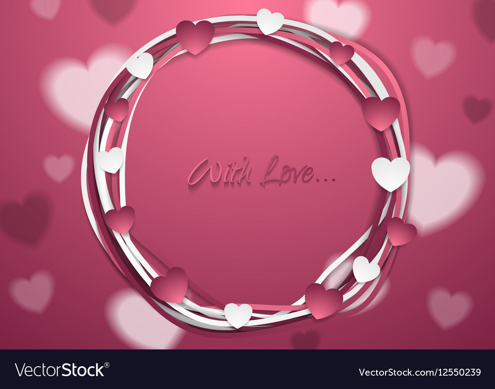 Bright abstract St Valentines Day background