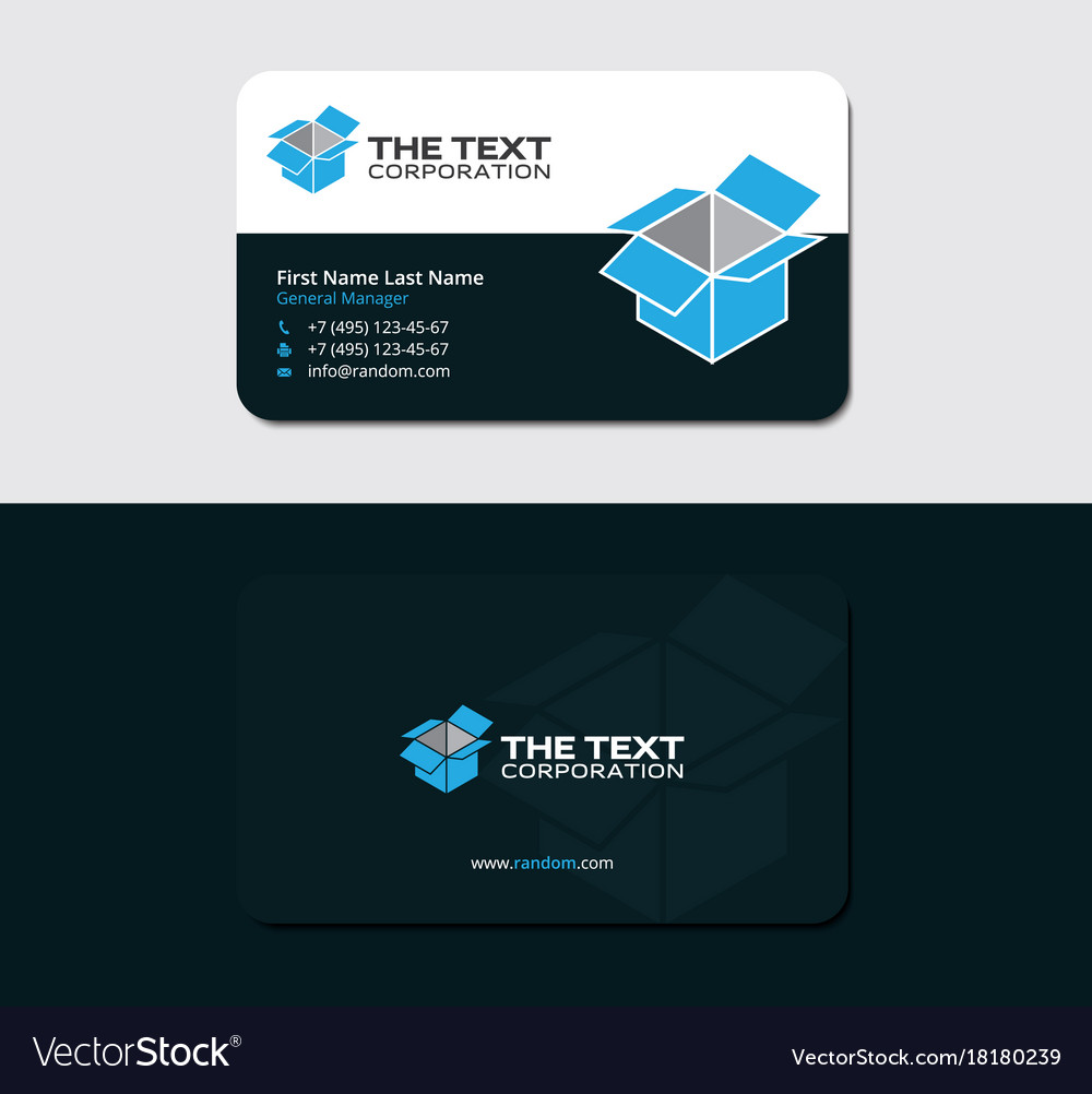 Business card with blue cargo container royalty free vector business card with blue cargo container vector image colourmoves