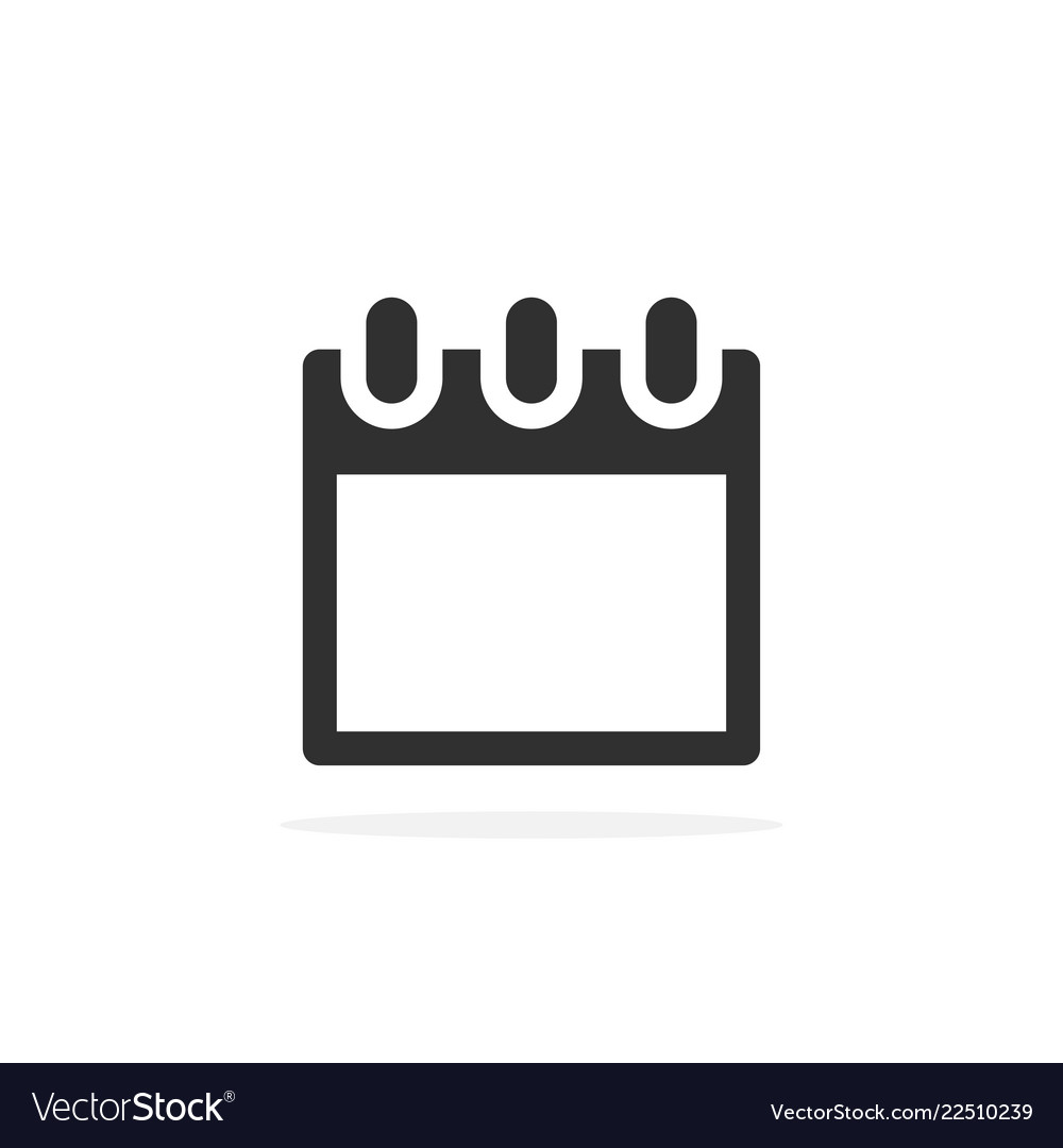 Calendar - icon with shadow