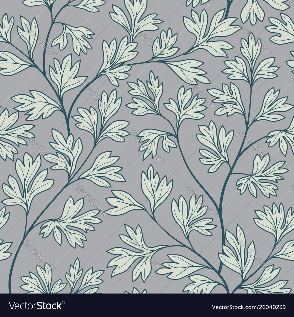 Floral seamless pattern leaves background