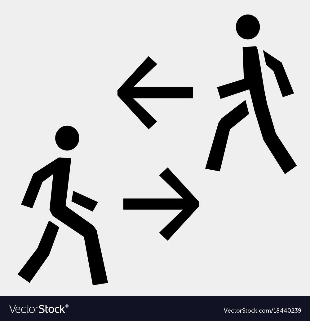 Man walk icon
