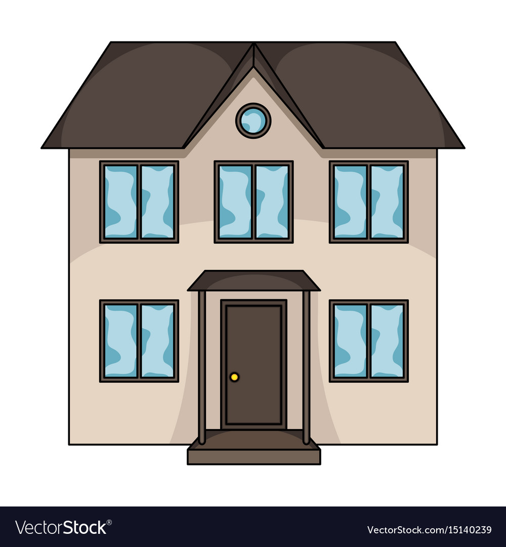 Private cottagerealtor single icon in cartoon