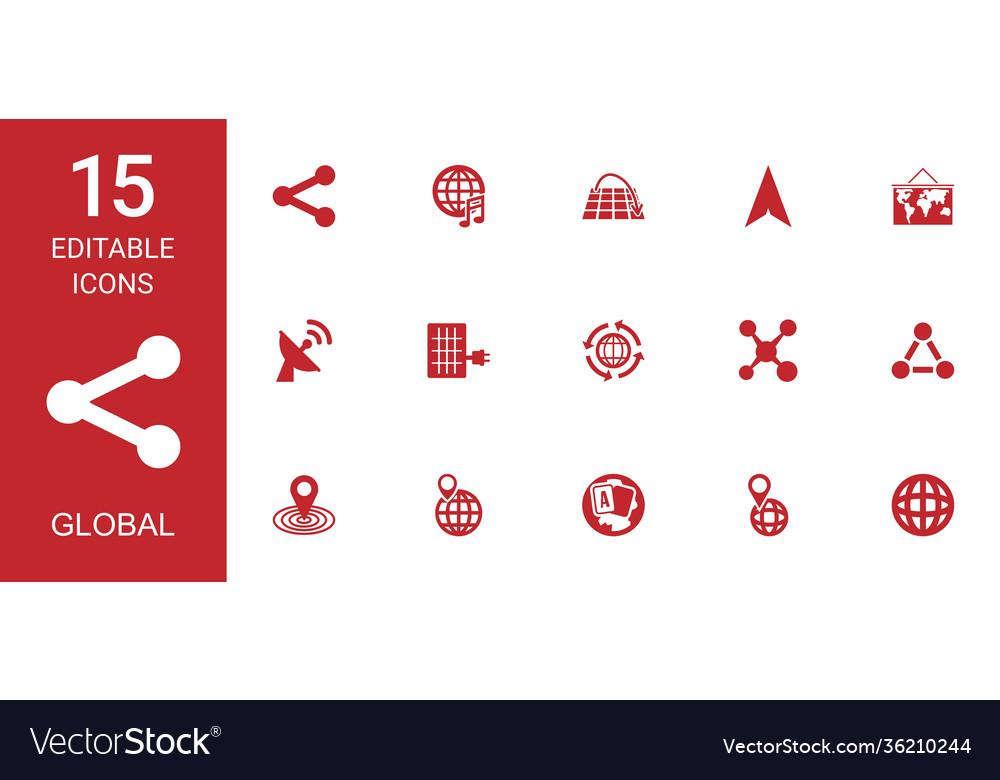 15 global icons