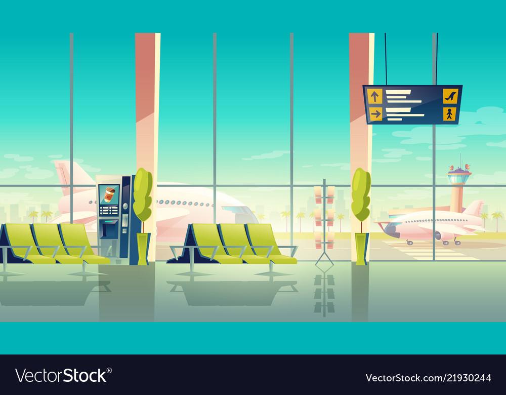 Airport hall international terminal