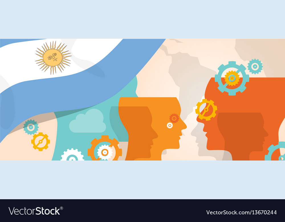 Argentina concept of thinking growing innovation vector image