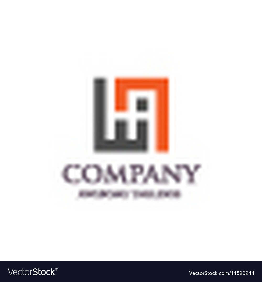 Creative letter ha square logo