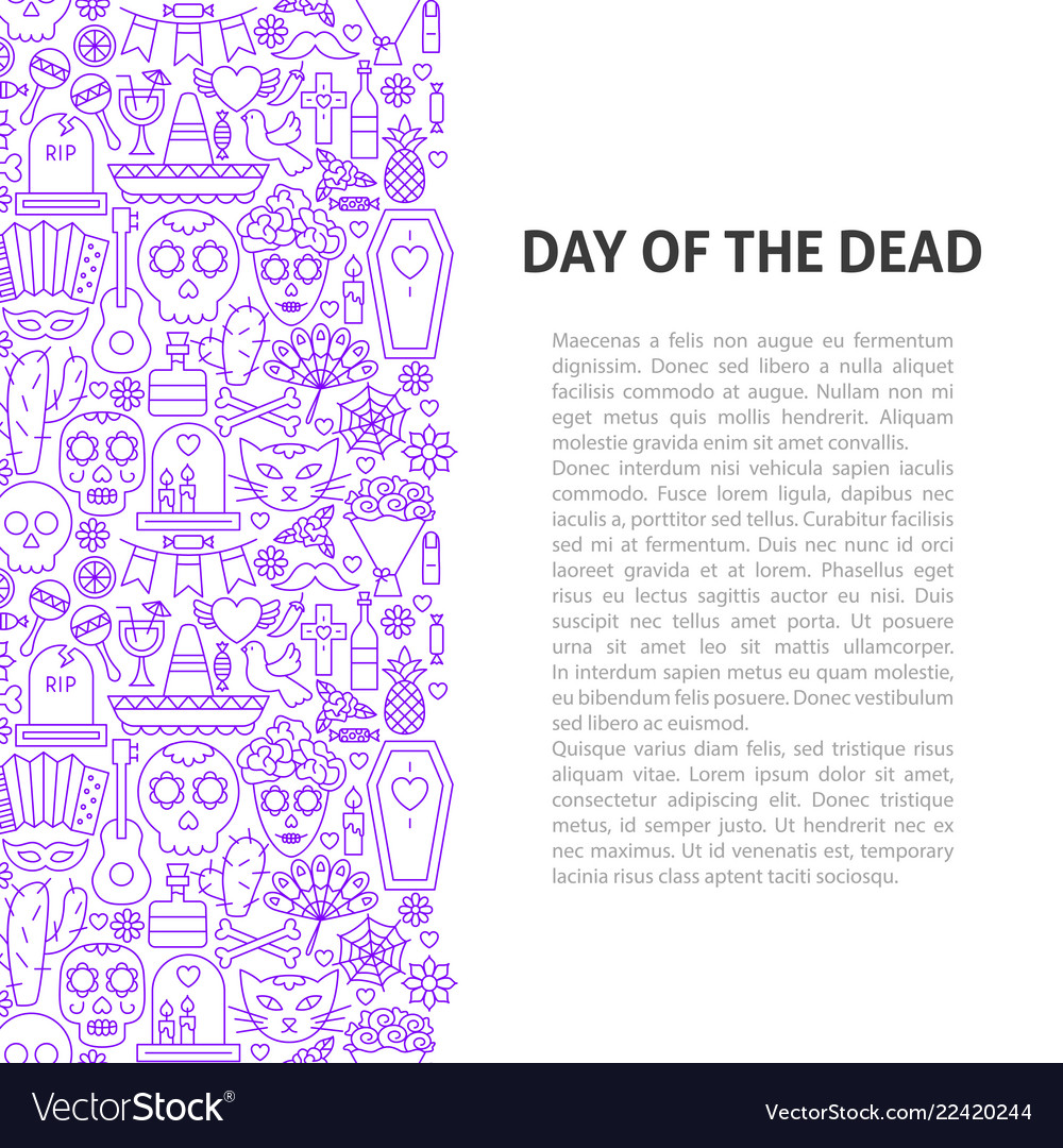 Day of the dead line pattern concept