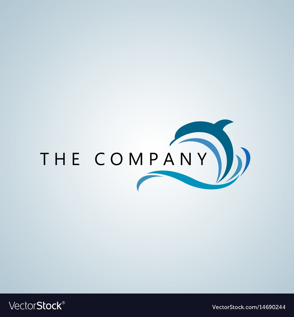 Dolphin logo ideas design Royalty Free Vector Image