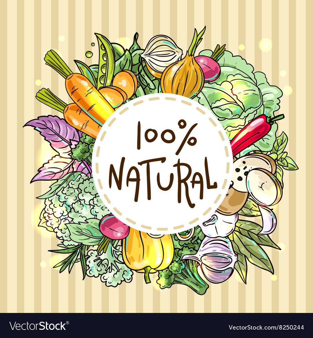 Food top view vector image
