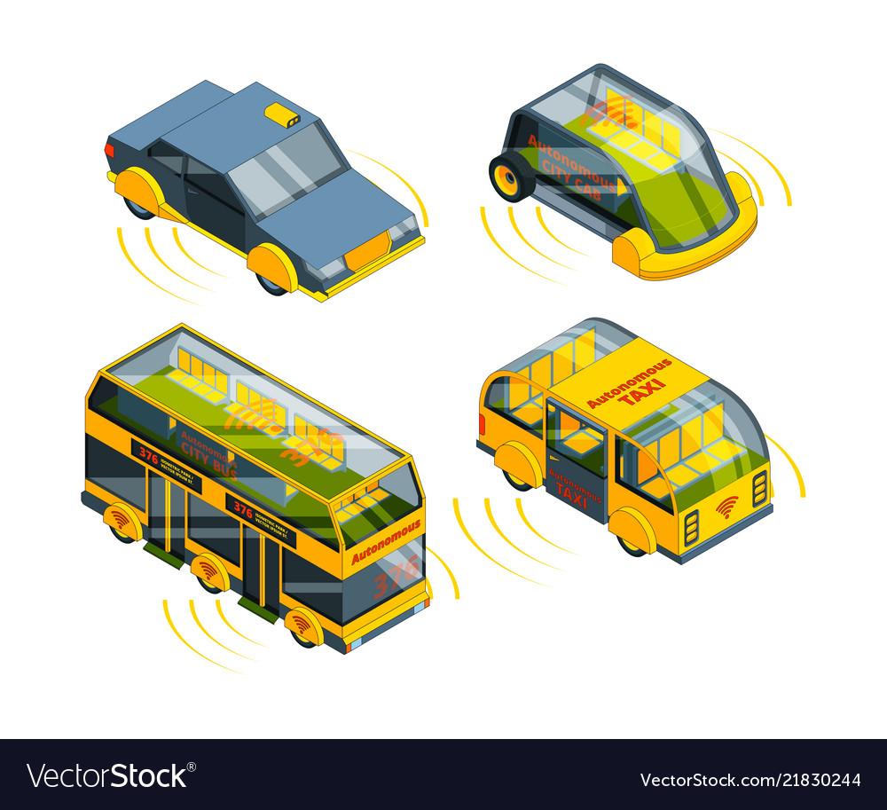 Future unmanned vehicle autonomous transport cars