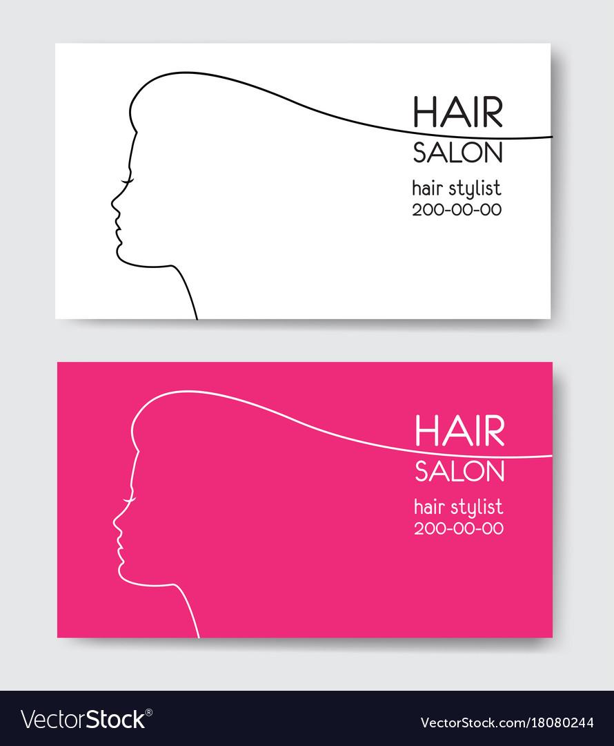Hair salon business card templates with beautiful vector image flashek Choice Image